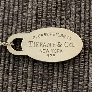 🎁TIFFANY Return To Sender Oval Charm Necklace
